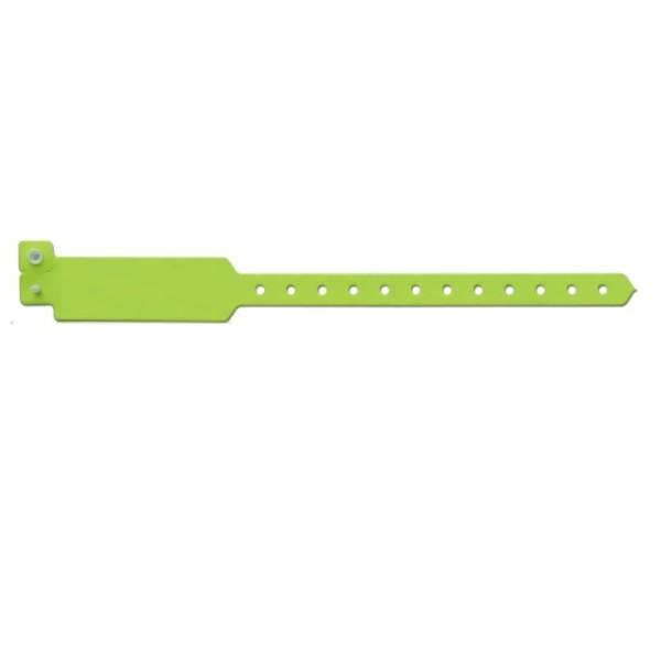Green vinyl wristbands